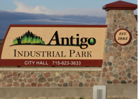 Photo of Antigo Industrial Park City Sign