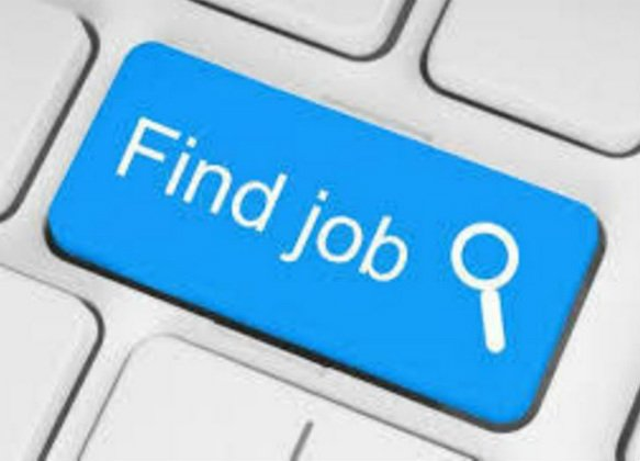 "Image of a Blue Key on a Keyboard that says ""find jobs"""