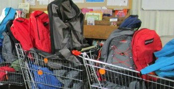 Photo of Backpacks Filled with School Supplies