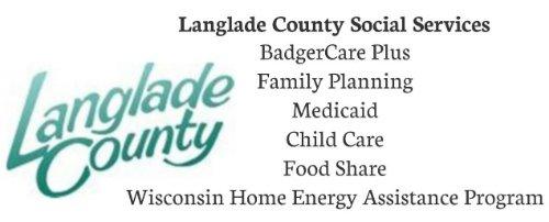 Langlade County Logo & Social Service List